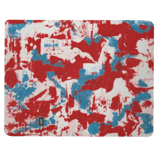 Red, White and Blue Brushstrokes Journal