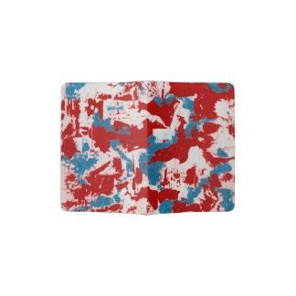 Red, White and Blue Brushstrokes Passport Holder