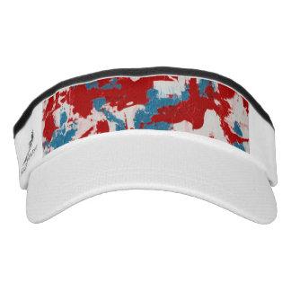 Red, White and Blue Brushstrokes Visor