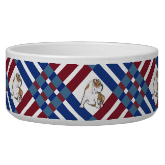 Red White and Blue Bulldog