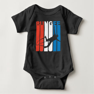 Red White And Blue Bungee Jumping Baby Bodysuit