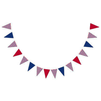Red White and Blue Bunting Flags