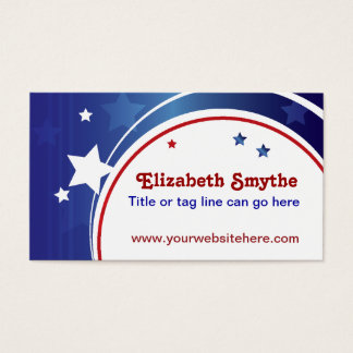 Red White and Blue Business Card
