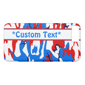 Red White and Blue Camo w/ Custom Text iPhone 8 Plus/7 Plus Case