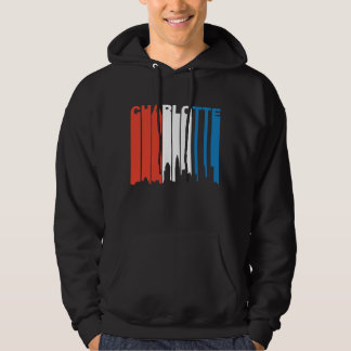 Red White And Blue Charlotte North Carolina Skylin Hoodie