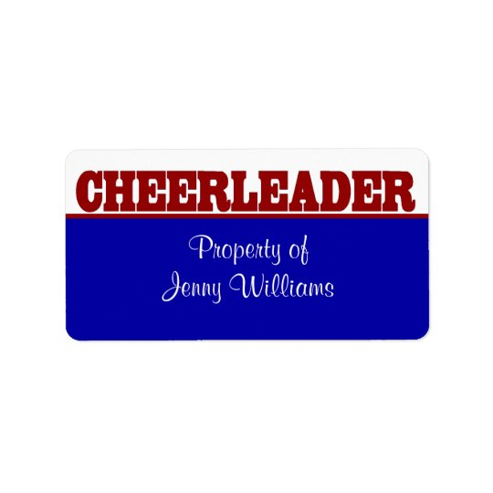 Red, White, and Blue Cheerleader Name Stickers