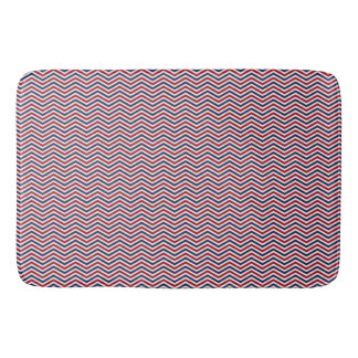 Red White and Blue Chevrons Bathroom Mat
