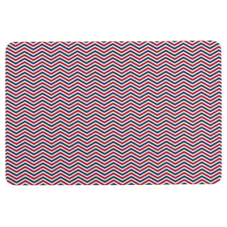 Red White and Blue Chevrons Floor Mat