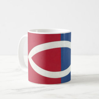 Red, White, And Blue Christian Fish Mug