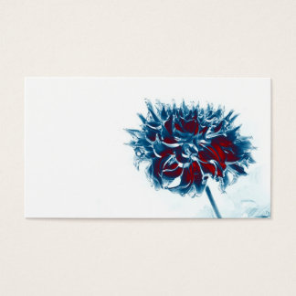 red white and blue chrysanthemum business card