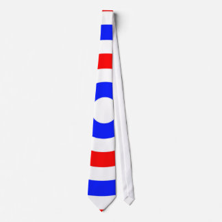 Red, white and blue circles tie