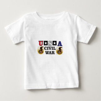 red white and blue civil war baby T-Shirt