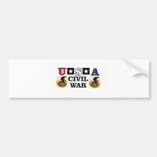 red white and blue civil war bumper sticker