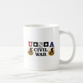 red white and blue civil war coffee mug