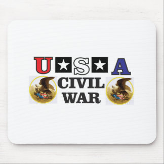 red white and blue civil war mouse pad