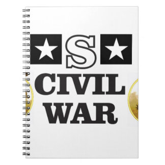 red white and blue civil war notebooks