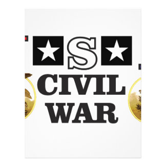 red white and blue civil war personalized letterhead