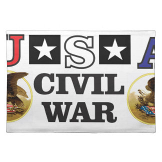 red white and blue civil war placemat