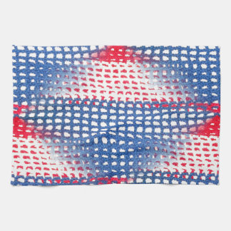 Red White and Blue Crocheted Look Kitchen Towel