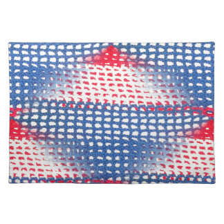 Red White and Blue Crocheted Look on Placemats