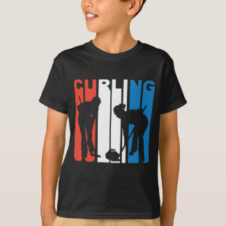 Red White And Blue Curling T-Shirt