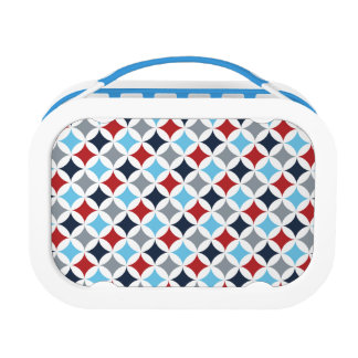 Red White And Blue Diamonds Lunch Boxes
