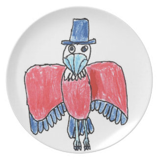 Red, White and Blue Eagle 1 Dinner Plate