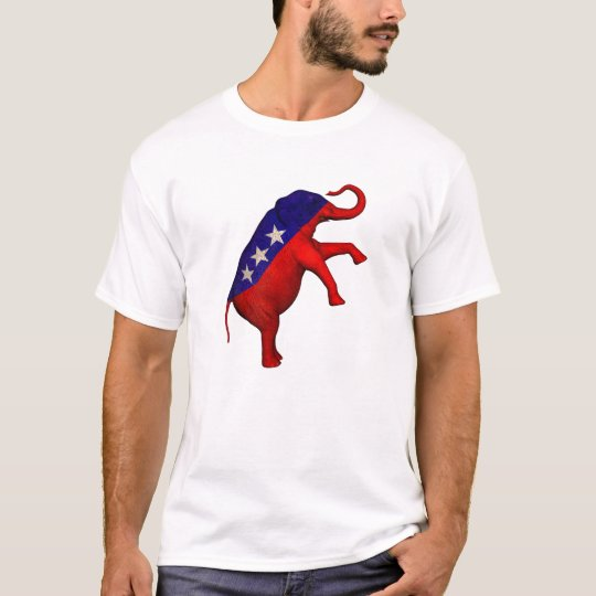 Red White And Blue Elephant T-Shirt