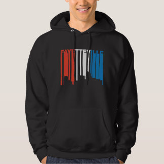 Red White And Blue Fayetteville North Carolina Sky Hoodie