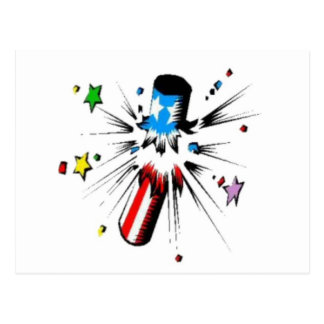 Red White and Blue Firecracker Postcard