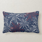 Red White and Blue Fireworks Pattern Lumbar Pillow
