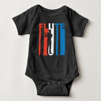 Red White And Blue Flute Baby Bodysuit