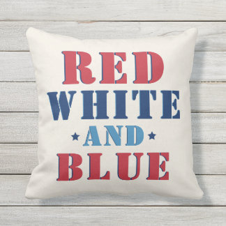 Red White and Blue | Fourth of July Throw Pillow