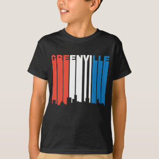 Red White And Blue Greenville South Carolina Skyli T-Shirt