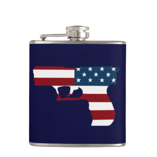 Red White And Blue Gun Flask