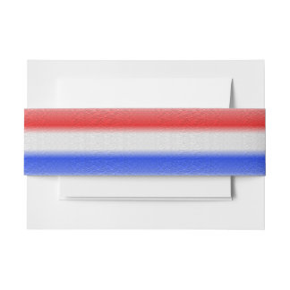 Red White and Blue Invitation Belly Band