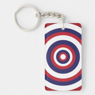 Red white and blue keychain
