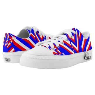 RED WHITE AND BLUE Low-Top SNEAKERS