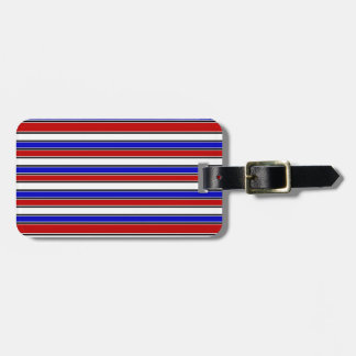 Red, White, and Blue Luggage Tag