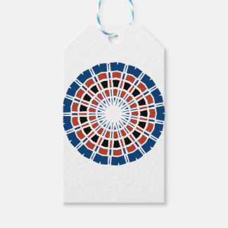RED WHITE AND BLUE MANDALA GIFT TAGS
