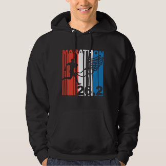 Red White And Blue Marathon Runner Hoodie
