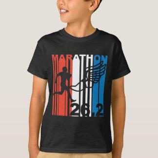 Red White And Blue Marathon Runner T-Shirt