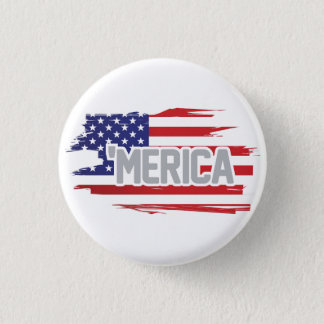 "Red white and blue ""Merica button"