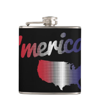 Red, White, and Blue 'Merica Hip Flask