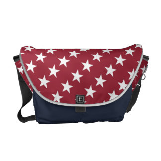 Red White and Blue Messenger Bag