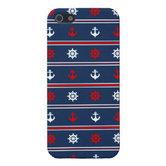 Red White And Blue Nautical Pattern Case For The iPhone 5