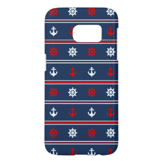 Red White And Blue Nautical Pattern Samsung Galaxy S7 Case