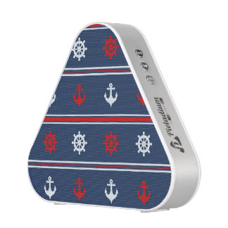 Red White And Blue Nautical Pattern Speaker