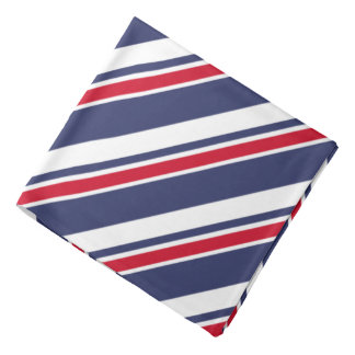 Red White and Blue Nautical Stripes Head Kerchief
