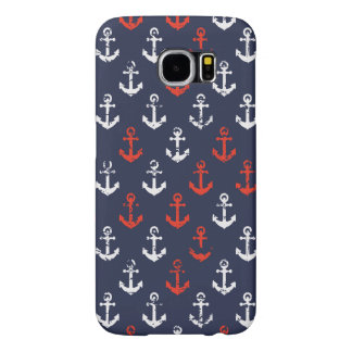 Red White And Blue Navy Pattern Samsung Galaxy S6 Cases